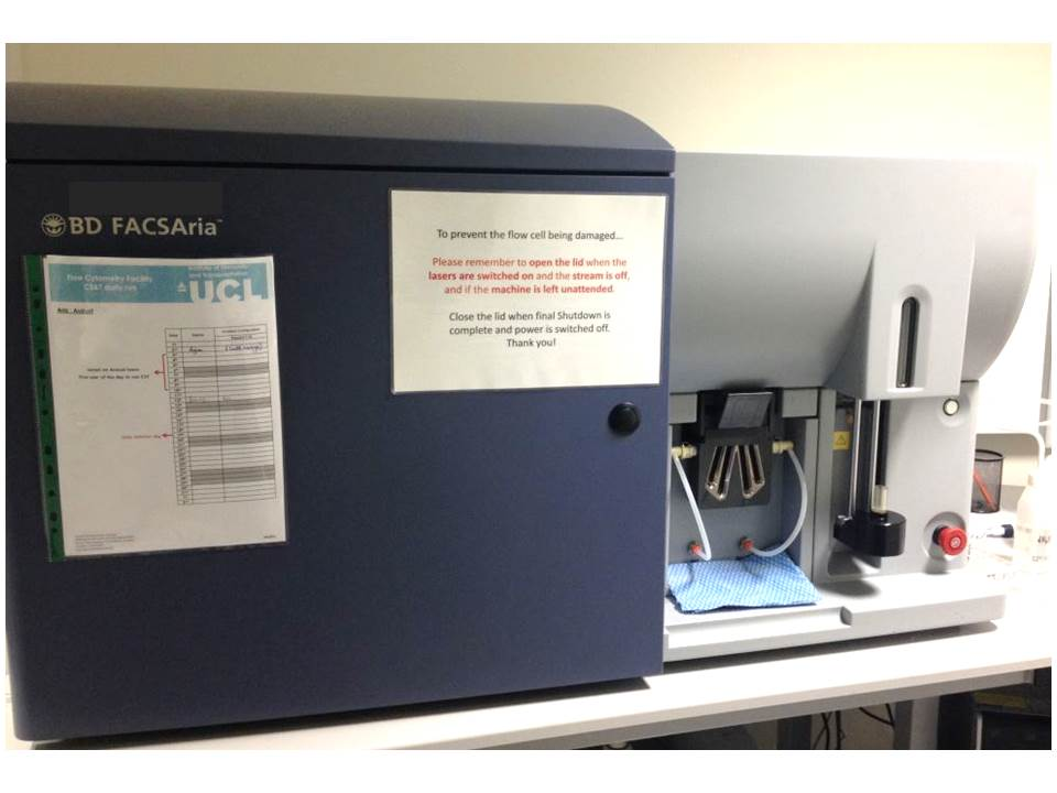 Cell sorter (IIT. Royal Free Campus)