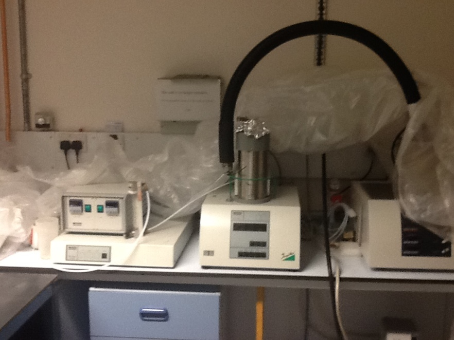 Netzsch Thermogravimetric Analysis apparatus with mass spec